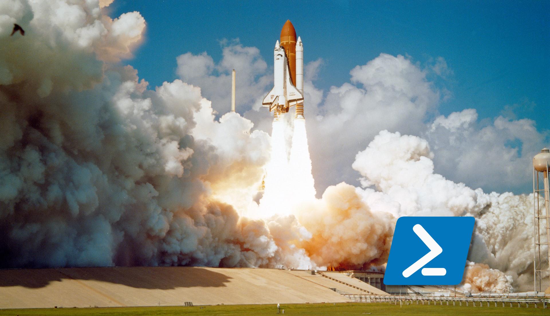 NASA Shuttle Takeoff w/ Powershell Icon